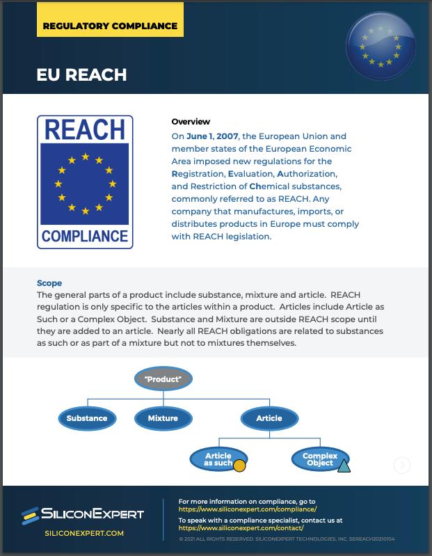 EU REACH SiliconExpert Datasheet Screenshot