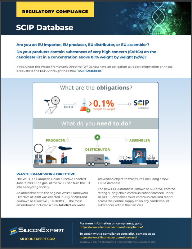 Screenshot of SiliconExpert SCIP Database Datasheet